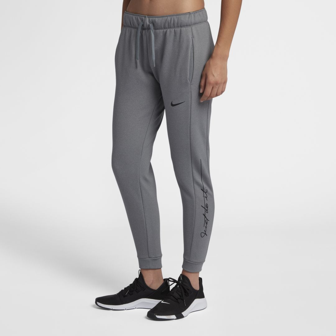 coupon code super quality genuine Nike Therma Women's JDI Training Pants Size 2XL (Dark Grey ...