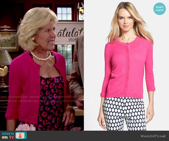 Pam's pink cardigan on The Bold and the Beautiful.  Outfit Details: http://wornontv.net/51876/ #TheBoldandtheBeautiful