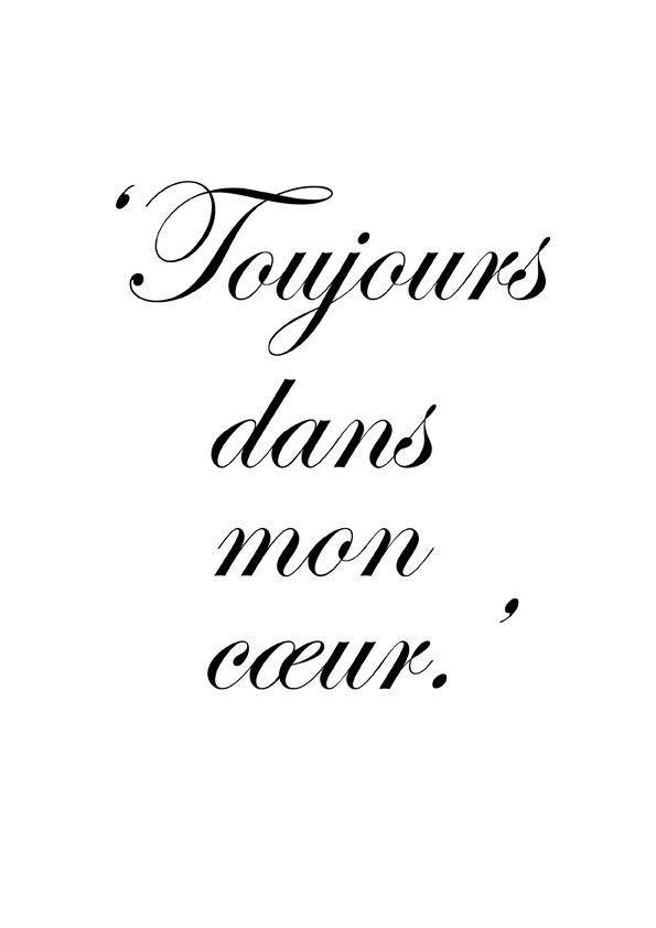 Siempre En Mi Corazon Frances Pinterest Frases Amor Y Frases
