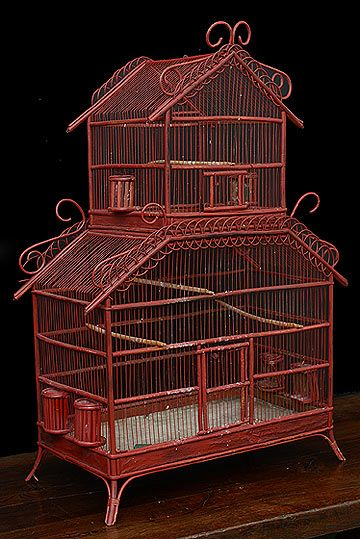 french antique colonial style bamboo cage bird cage pinterest vintage m bel vintage und m bel. Black Bedroom Furniture Sets. Home Design Ideas