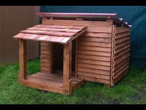 Tutoriel comment fabriquer une niche pour chien en bois - Niche pour chien avec palette ...