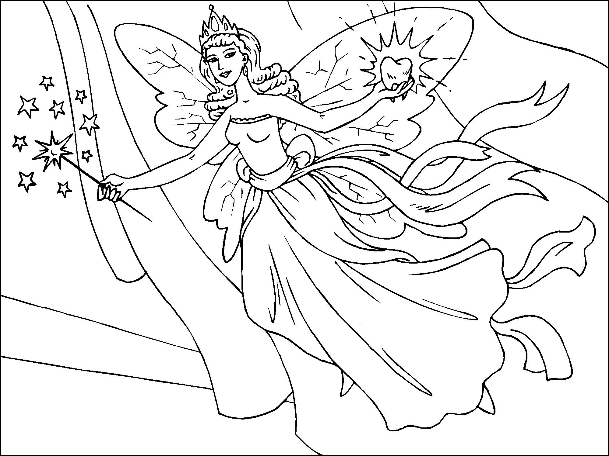 pictures of fairies and  to color | Free Printable Fairy Coloring Pages For Kids