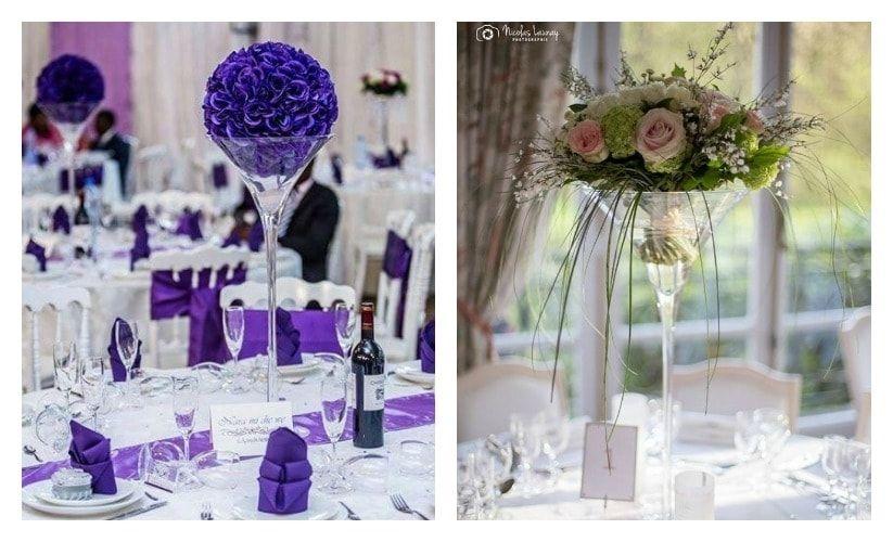 Decoration Table Ronde Mariage Vase Martini