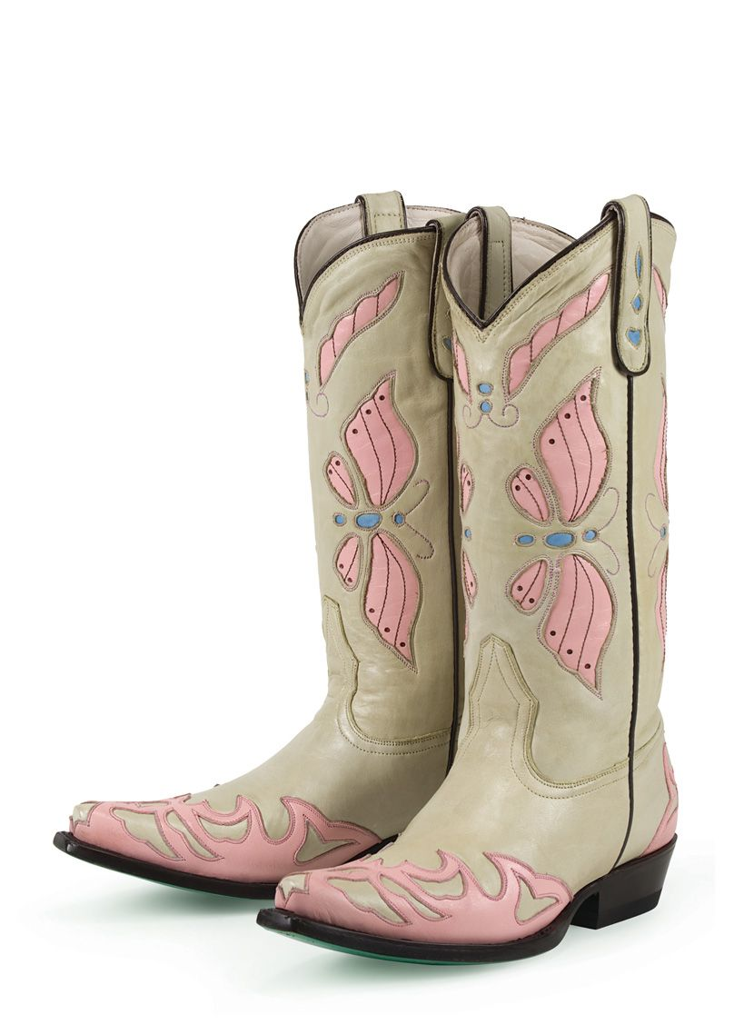 Women's Western Boots - Butterfly Pastel Ladies Cowboy Boots ...