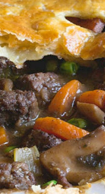 Savory Steak and Mushroom Pot Pie Recipe in 2020 | Best ...