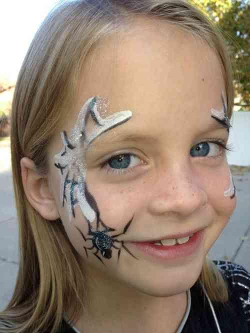 Maquillage halloween enfant id es pour vos petits monstres araign es maquillage halloween - Maquillage halloween araignee ...