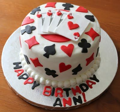 Playing Cards Cake My Cupcakes Toppers Pinterest Playing