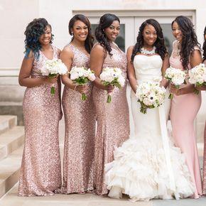 AfricanAmerican Weddings  Brown Bride and Bridesmaids  Bridesmaid dresses Wedding African