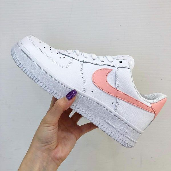 Nike Air Force 1 '07 Patent White Oracle Pink  Rematch is part of Shoes - The new Nike Air Force 1 '07 Patent White Oracle Pink women's shoe is is one of the top Nike releases of the summer in 2018
