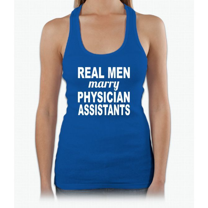Real Men Marry Physician Assistants Womens Tank Top