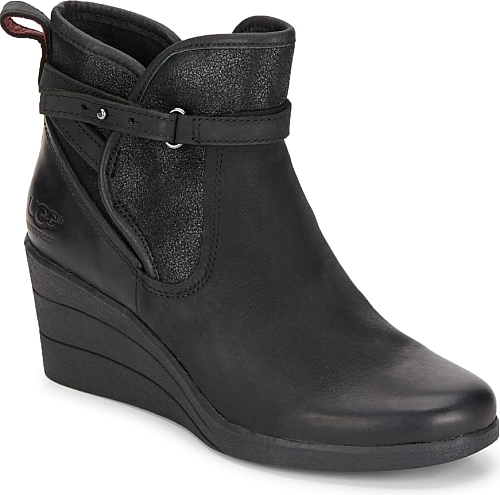 Introducing the Uptown Emalie UGGpure Leather Wedge Boots. Beautiful boots from designer UGG in Black. We think that you will feel perfect when you slide ...