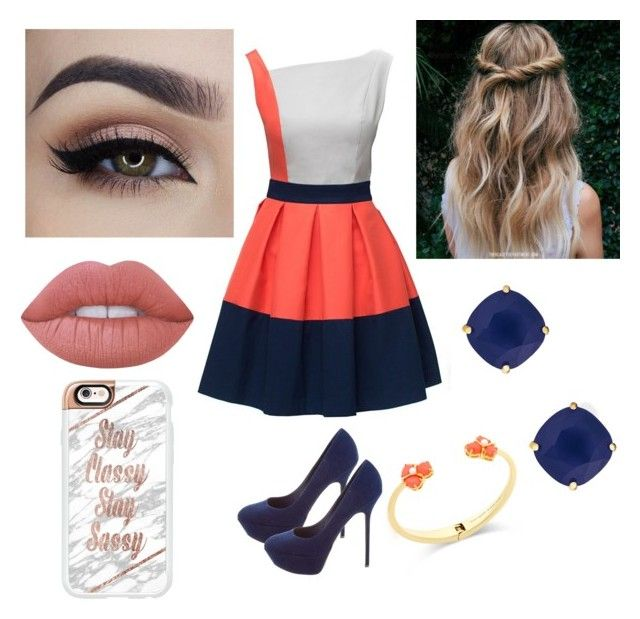 """""""Untitled #47"""" by aderr03 ❤ liked on Polyvore featuring Sergio Rossi, Kate Spade, Lime Crime and Casetify"""