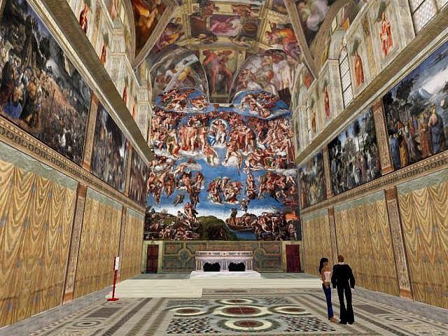 Chapelle sixtine la r sidence du pape et c l bre pour ses - Fresque du plafond de la chapelle sixtine ...
