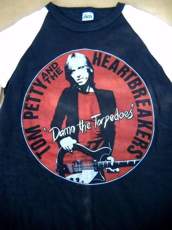 56fe05f08 Tom Petty Heartbreakers Concert T Shirt Vintage 79 Damn The Torpedoes