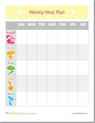 Free Printable Weekly Meal Planner With Grocery List  Google