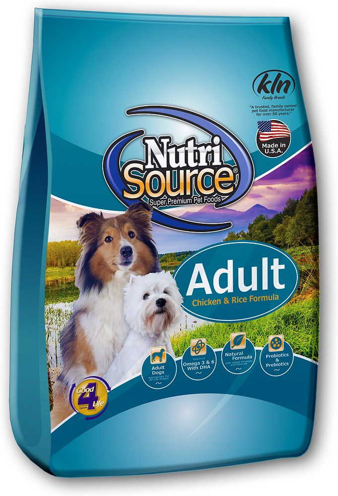NutriSource Adult Chicken & Rice Formula Dry Dog Food, 33