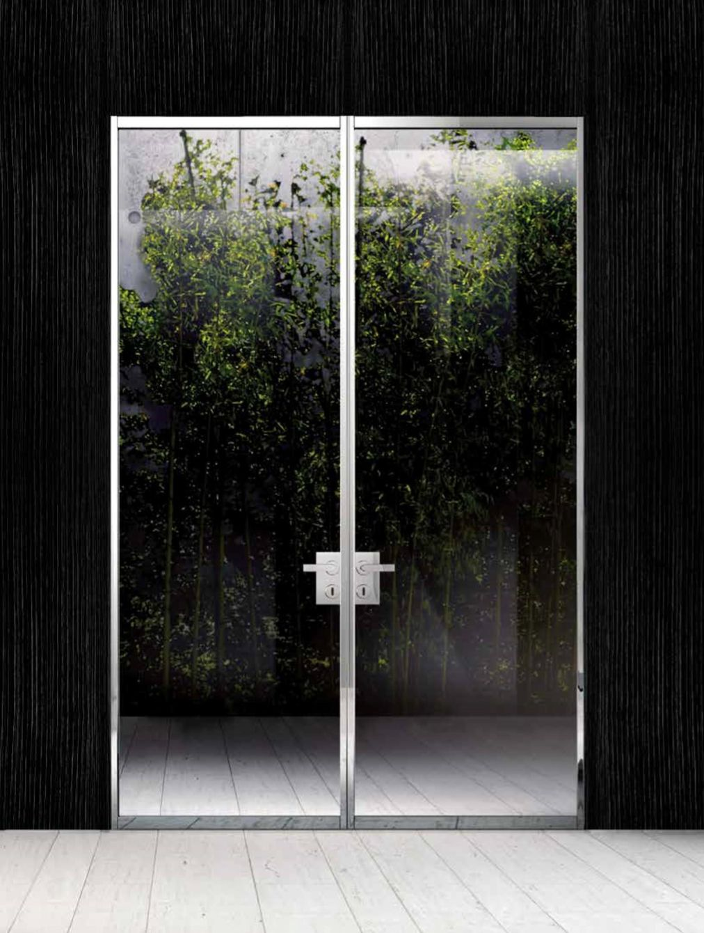 Double Swing Doors Polished Aluminum 6mm 1 4 Tempered Extra Clear Glass Glass Doors Interior Sliding Glass Door Glass Room Divider