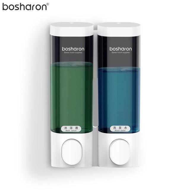 Liquid Soap Dispenser Wall Mounted 300ml Plastic Shampoo Shower