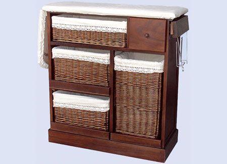 Mesa de plancha color nogal - Mueble de plancha ...
