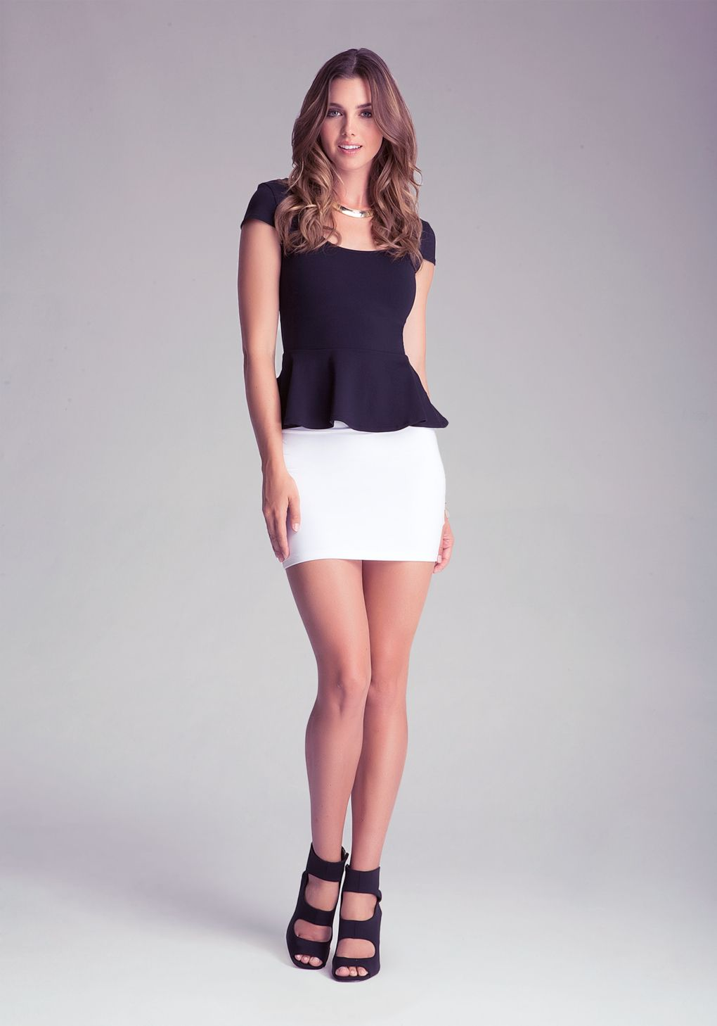 Women's White High Waist Miniskirt | Best High waist and Bebe ideas