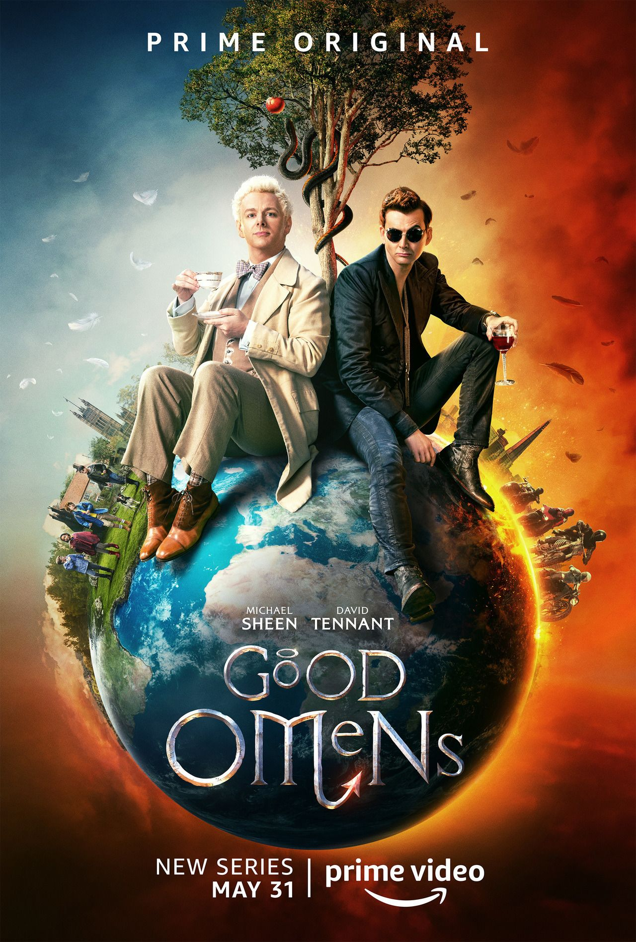 I love this poster because they must have asked michael sheen and david tennant to sit on a huge bal... - #bal... #because #michael #poster #tennant