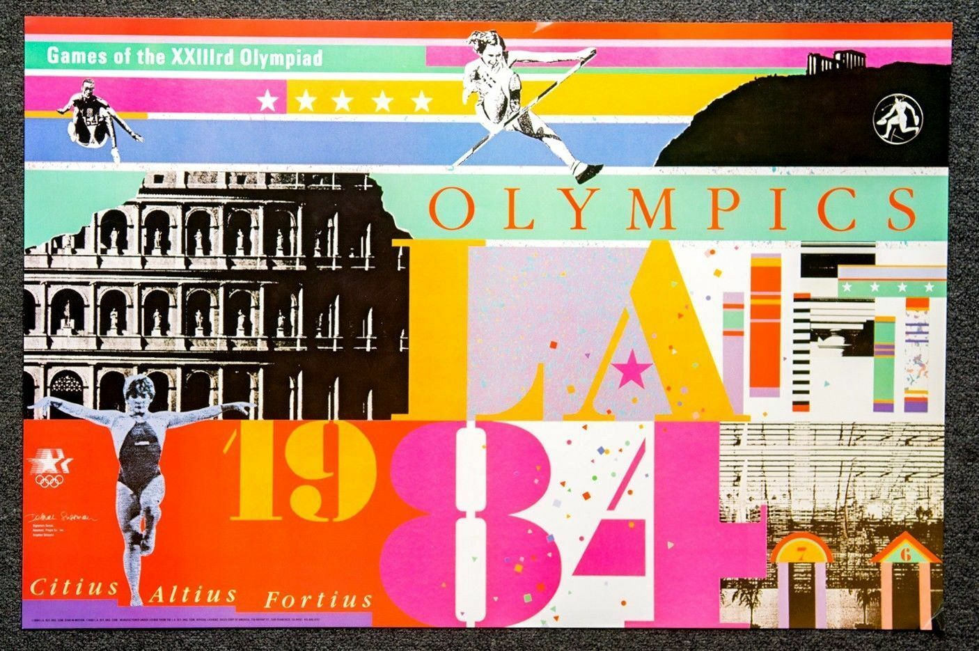 1984 Los Angeles Olympics Signature Series Poster Deborah Sussman Noted Artist Ebay Graphic Design Masters Graphic Design School Graphic Design Humor,Small Simple Indian Home Interior Design Photos
