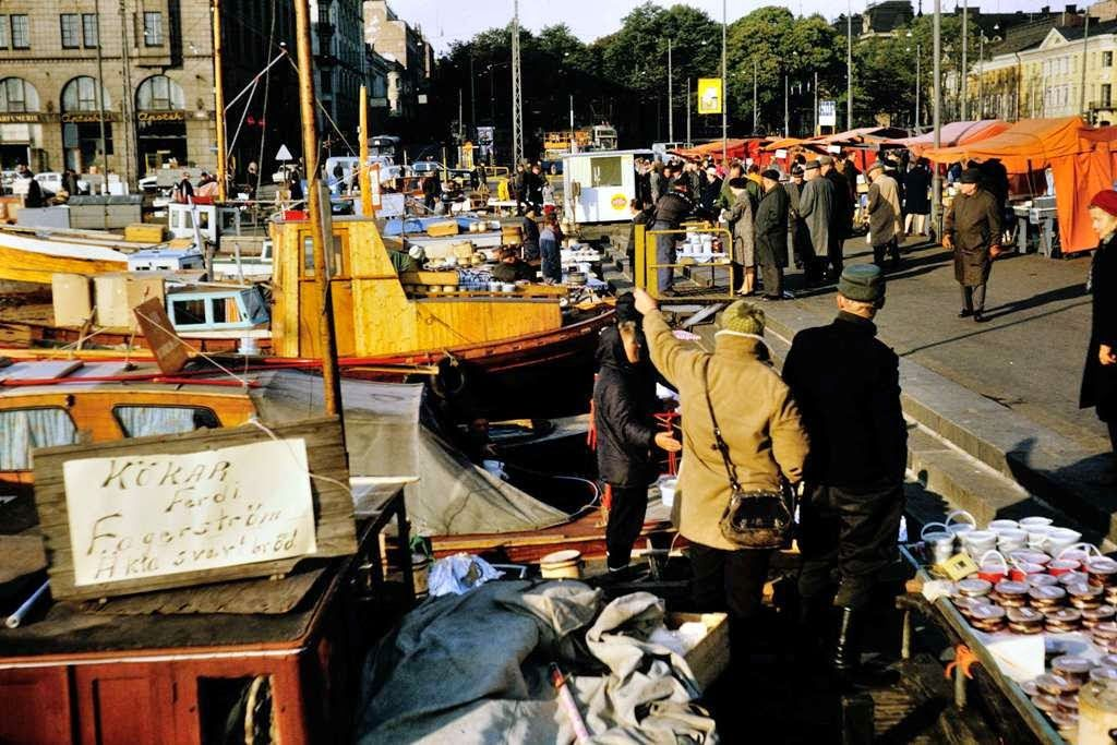 vintage everyday: Color Photos of Helsinki, Finland in 1968