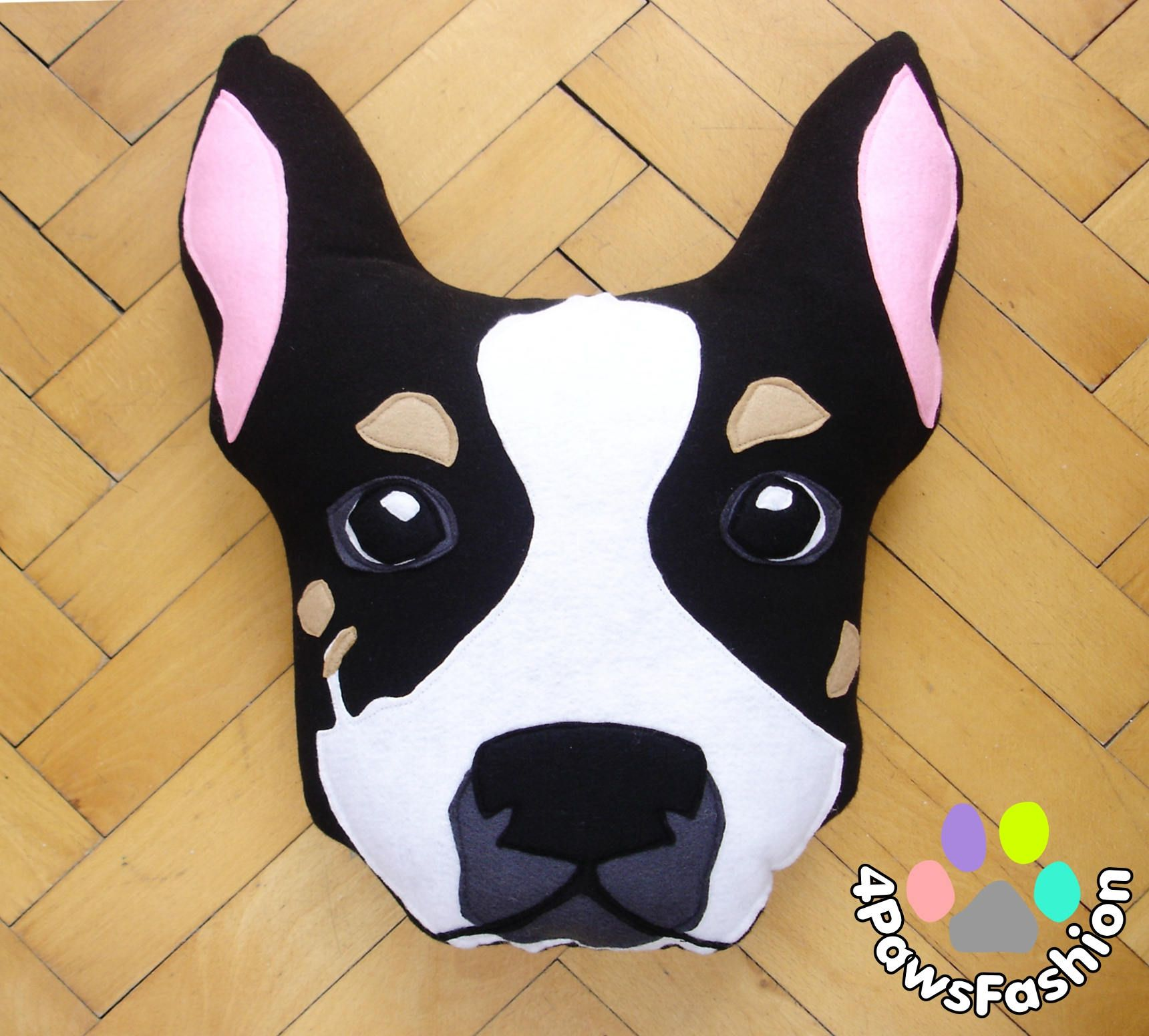 Trixie Chihuahua Stuffed Plush Toy Black And White Dog Pattern Throw