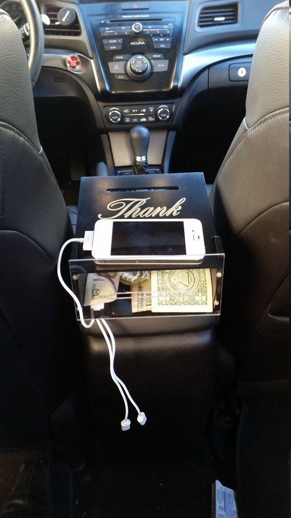 Uber Car Seat >> Uber Charging Station Tip Box By Sammkwoodworks On Etsy