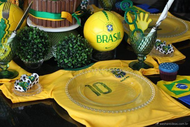 Mesa Canarinho Criativa Copa Do Mundo Decoracao Copa Do Mundo E