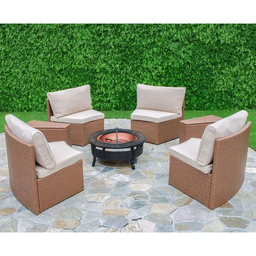 found it at wayfair cedar cove 6 piece curved seating group with rh pinterest com