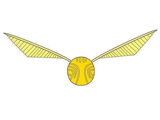 How To Draw The Golden Snitch From Harry Potter 5 Steps Or How