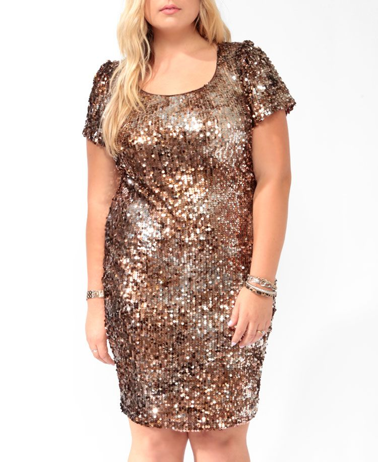 6fd02aee Sparkling Paillettes Dress | FOREVER21 PLUS | $34.80 | Holiday Party ...