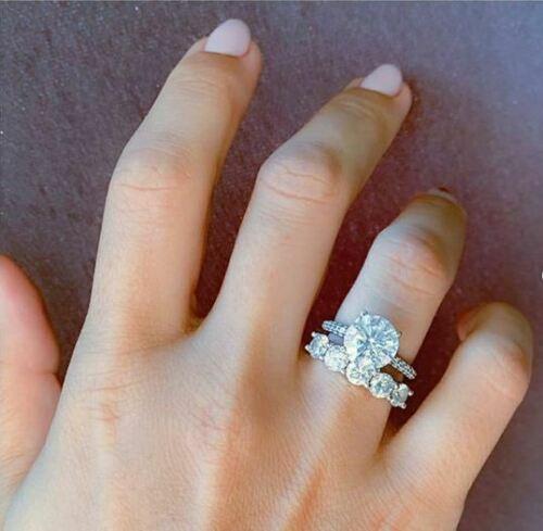 2.50Ct Moissanite Solitaire Diamond Ring Engagement Gift 14Kt White Gold Over