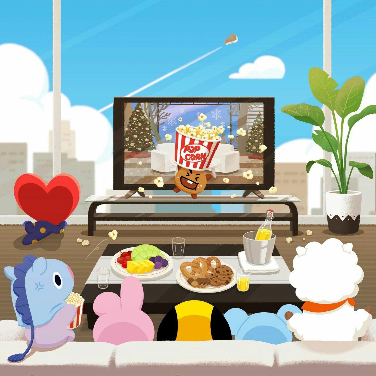 BT21. L.A. BTS Bts cute, Fondo de pantalla de kpop