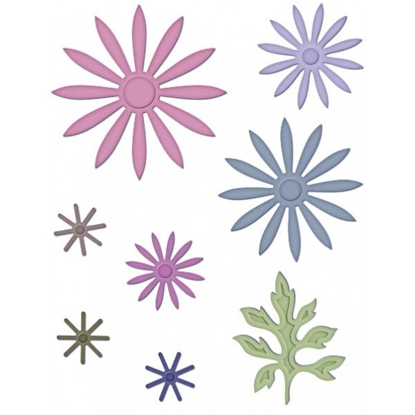 Delicate Asters Die Heartfelt Creations Flower Template Paper Flowers