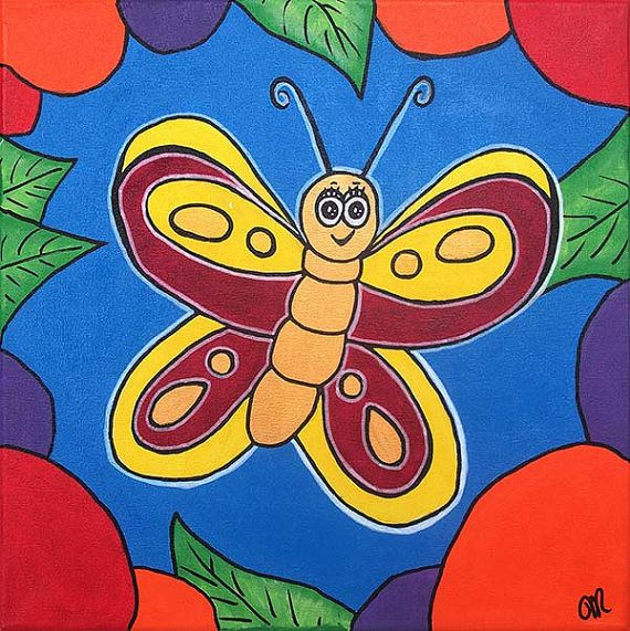 Beautiful Bright Cute Butterfly by LollipopDesignsAU on Etsy, $50.00