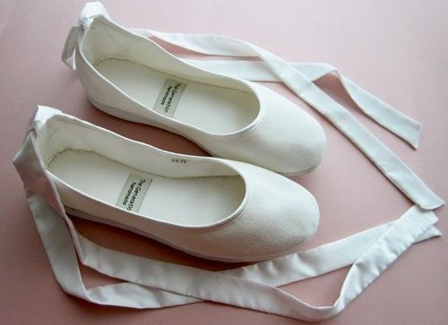 ballet flats... Wore these for my wedding! They were so cute, and ...