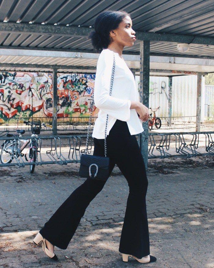 Beliebt Bevorzugt weiße Bluse kombinieren, Modeblog Berlin, Fashionblogger &DD_62