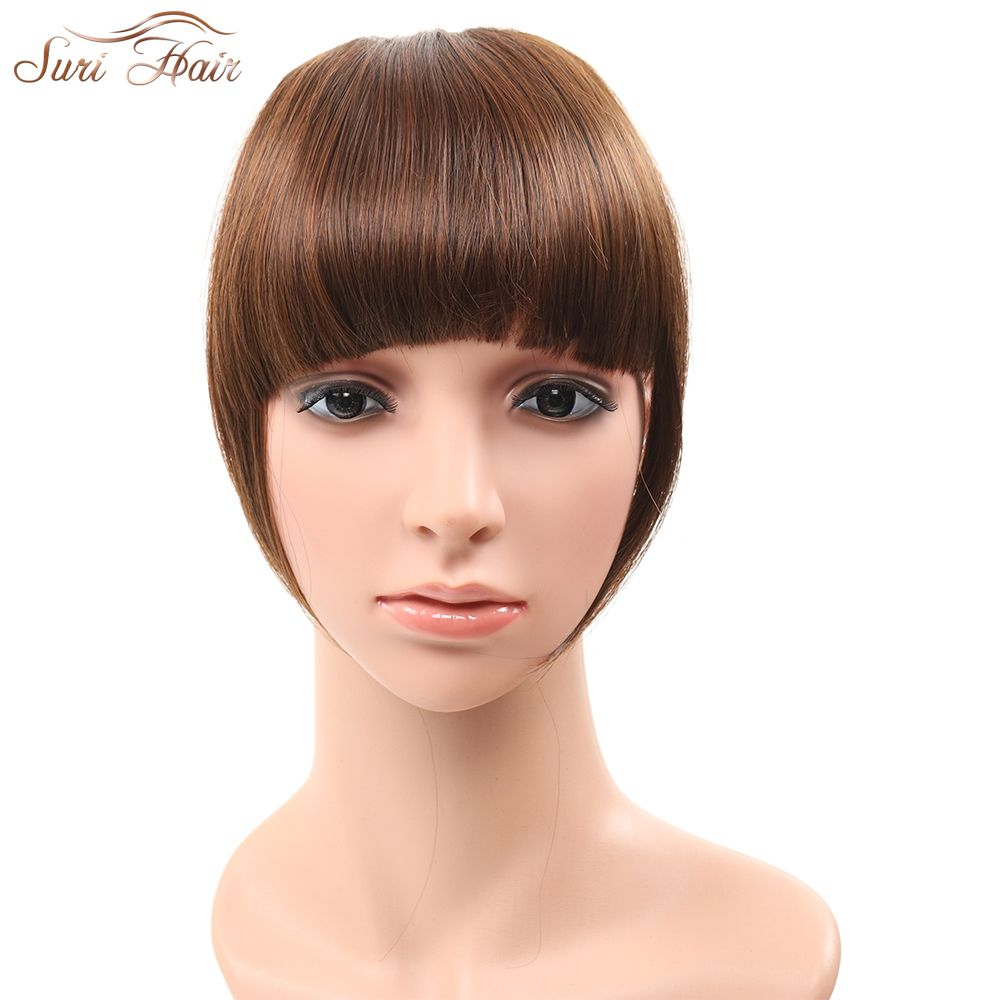 Suri Hair 2pcslot Clip In Blunt Bangs Synthetic Fake Hair Extension