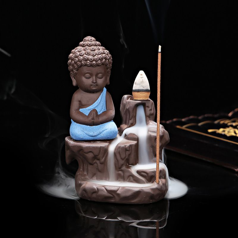 Decoração de Casa criativa O Pequeno Monge Refluxo em Uso No Escritório de Casa Casa de Chá Queimador de Incenso Incensário X1113