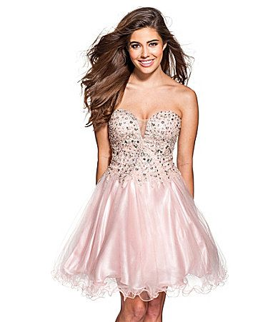 Glamour by Terani Couture Sweetheart Beaded Tulle Party Dress ...