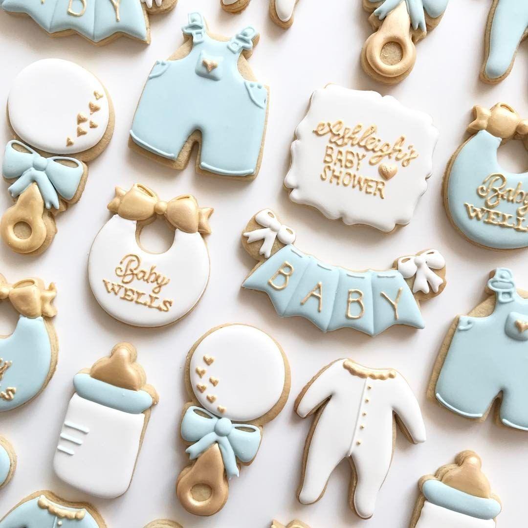 Baby Boy Cookies, Baby Shower Cookies, Cute Cookies, Baby Shower Sweets,  Sugar