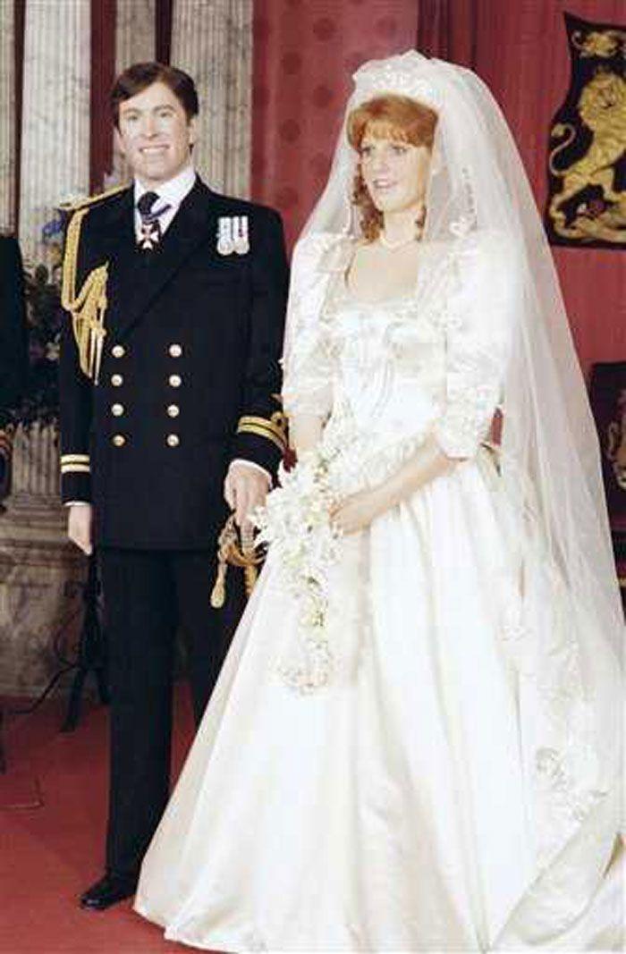 sarah duchess of york wedding gown 1980s style