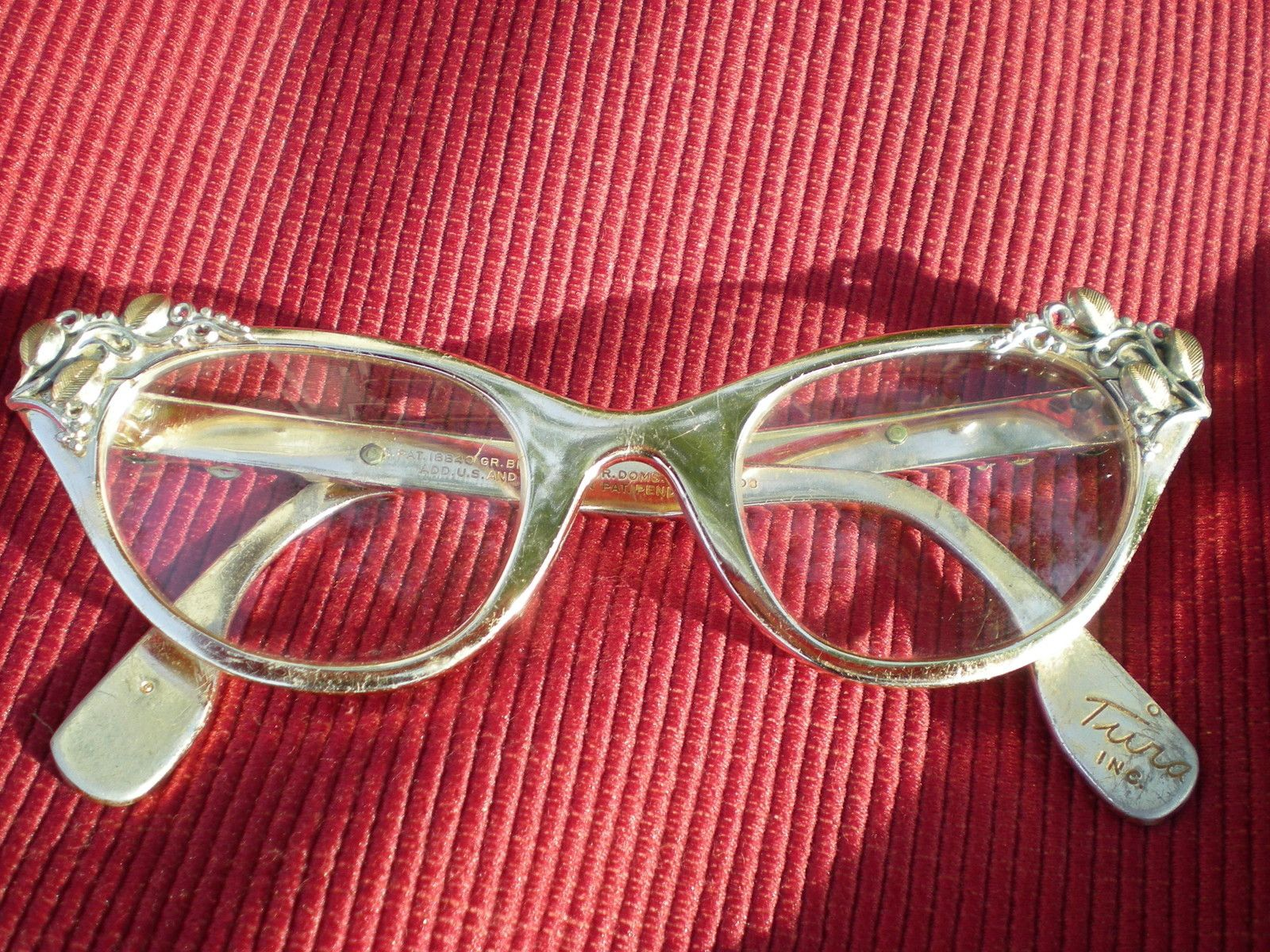 vintage antique eyeglasses spectacles 1950s60s tura inc