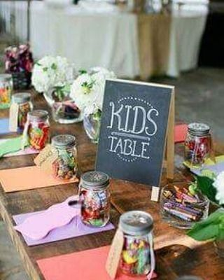 What An Adorable Kids Table If Youre Going To Have Kids At Your