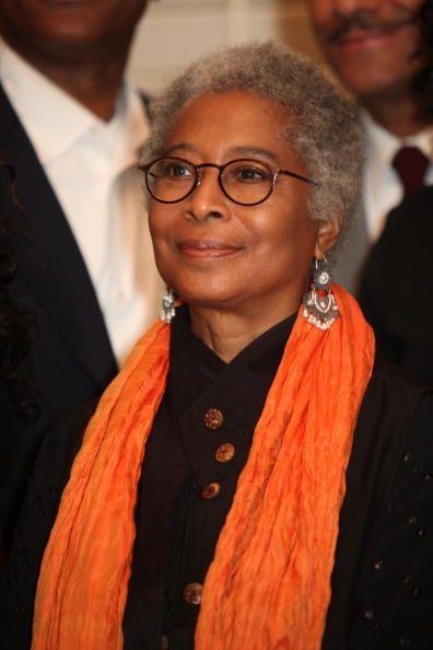 Alice Walker 68 - Pulitzer prize winning novelist, still beautiful with her salt and pepper hair.