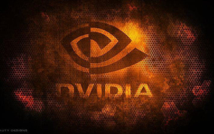 Logo Nvidia Emblem Grunge Walle