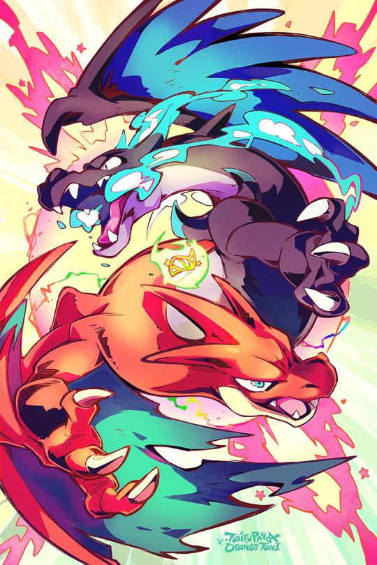 mega charizard xy by orangetavi and tulerarts nintendo pokemon