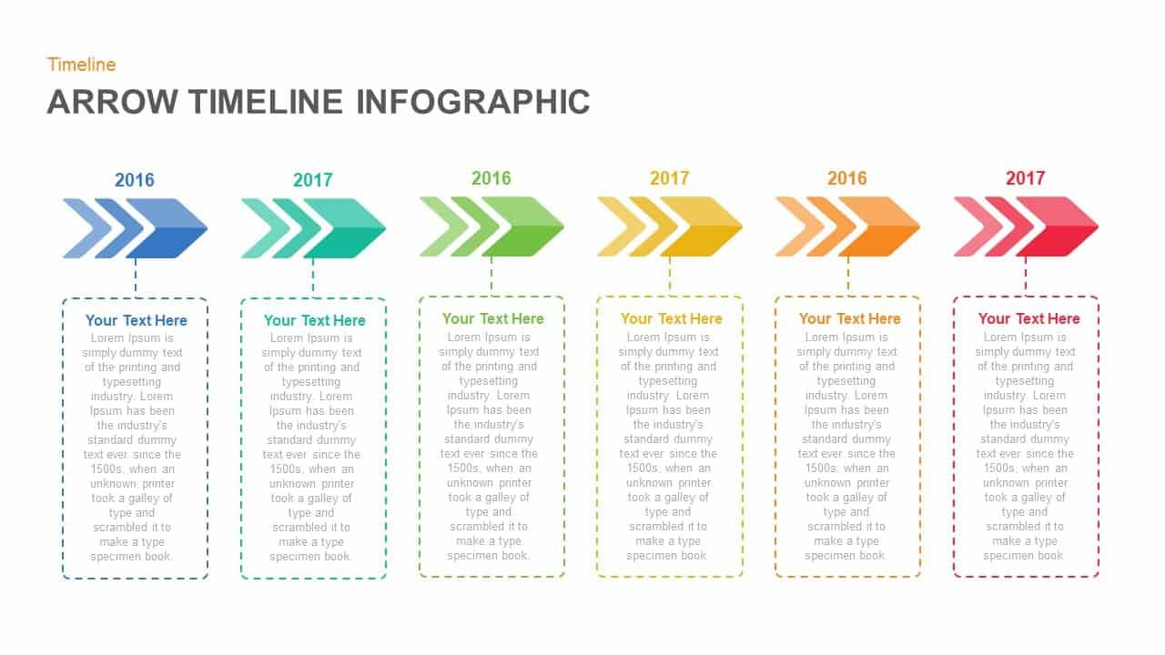 infographic arrow timeline powerpoint template and keynote slide tem templates